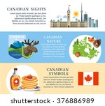 canada background text banners | Shutterstock .eps vector #376886989