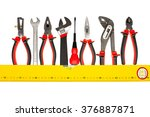 electrician and plumber tools... | Shutterstock . vector #376887871
