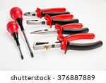 electrician tools  screwdrivers ... | Shutterstock . vector #376887889