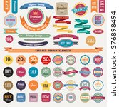 set of retro vintage badges and ... | Shutterstock .eps vector #376898494