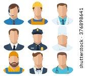 professions flat vector... | Shutterstock .eps vector #376898641