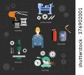 vector metalworking concept ... | Shutterstock .eps vector #376902001
