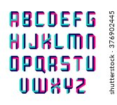 impossible shape font. vector. | Shutterstock .eps vector #376902445