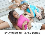 group portrait of ethnically...   Shutterstock . vector #376910881