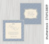 decorative design for a wedding ... | Shutterstock .eps vector #376913809