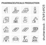 pharmaceutical production... | Shutterstock .eps vector #376914925