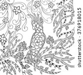 cute cockatoo coloring page.... | Shutterstock .eps vector #376918015