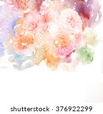 watercolor card with beautiful... | Shutterstock . vector #376922299