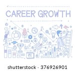 career growth infographics.... | Shutterstock .eps vector #376926901