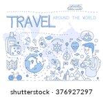 travel around the world. hand...