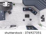 top view of modern living room... | Shutterstock . vector #376927351