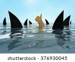 to stay afloat. the human hand ...   Shutterstock . vector #376930045