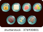 icons for games in caramel set. ... | Shutterstock .eps vector #376930801