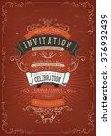 vintage invitation poster... | Shutterstock .eps vector #376932439
