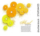 Yellow Cutout Paper Flowers....