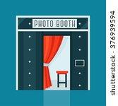 vintage photo booth machine... | Shutterstock .eps vector #376939594