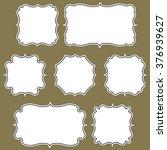 set of simple frames | Shutterstock .eps vector #376939627