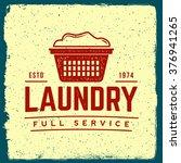 laundry emblem. logotype...   Shutterstock .eps vector #376941265