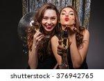 Cheerful Beautiful Young Women...