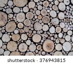 Wooden Log Textured Background...