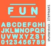 fun font. retro alphabet. fun... | Shutterstock .eps vector #376946641