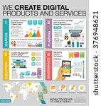 big infographics in flat style. ... | Shutterstock .eps vector #376948621