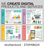 big infographics in flat style. ... | Shutterstock .eps vector #376948624
