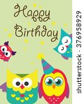 happy birthday card design... | Shutterstock .eps vector #376958929