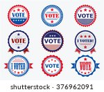 election voting stickers and... | Shutterstock .eps vector #376962091
