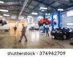 auto repair shop in bokeh ... | Shutterstock . vector #376962709