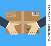 delivery concept. hand holding... | Shutterstock .eps vector #376967251