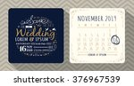 vintage typography wedding... | Shutterstock .eps vector #376967539