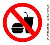 no food allowed symbol  no... | Shutterstock .eps vector #376975435