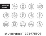 medical line icons black and... | Shutterstock .eps vector #376975909