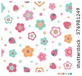 cute pastel seamless vector... | Shutterstock .eps vector #376981249