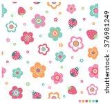 cute pastel seamless vector... | Shutterstock .eps vector #376981249