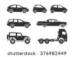 car icons black and white | Shutterstock .eps vector #376982449