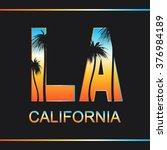 los angeles  california.... | Shutterstock .eps vector #376984189