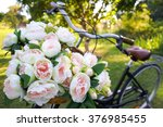 Bouquet Of Flowers In A Bicycl...