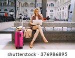 beautiful female freelancer... | Shutterstock . vector #376986895