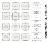 vintage frames  borders  and... | Shutterstock .eps vector #376988725