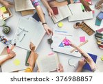 brainstorming group of people... | Shutterstock . vector #376988857
