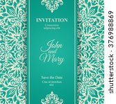elegant save the date card... | Shutterstock .eps vector #376988869