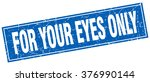 for your eyes only blue square... | Shutterstock .eps vector #376990144