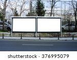 blank billboard and outdoor... | Shutterstock . vector #376995079