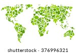 continents of green leaves.... | Shutterstock .eps vector #376996321