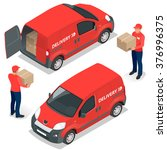 express delivery  delivery man. ... | Shutterstock .eps vector #376996375