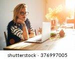 portrait of attractive smiling... | Shutterstock . vector #376997005