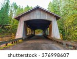 bridge house shape,scene of the Cedar creek grist mill in the morning,Washington,usa.