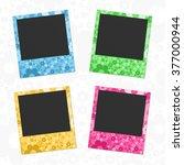 vector photo frame template.... | Shutterstock .eps vector #377000944